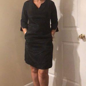 Black elbow length sleeve dress